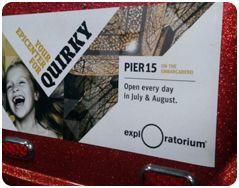 San Francisco Pedicabs Advertising Exploratorium