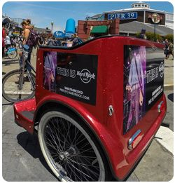 San Francisco Pedicabs Hardrock Cafe Pier 39