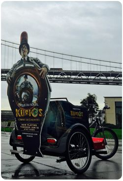 San Francisco Pedicabs Advertising Kurios