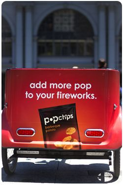 San Francisco Pedicabs Advertising Pop Chips