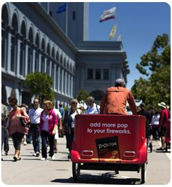 San Francisco Pedicabs Pop Chips Campaign