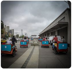 San Francisco Pedicabs Advertising Uber Ice Cream