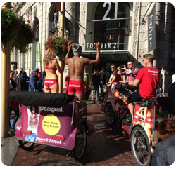 San Francisco Pedicabs Advertising Desigual