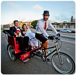 San Francisco Pedicabs Wedding