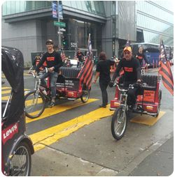San Francisco Pedicabs Giants World Series Parade